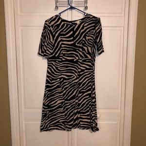 H&M zebra print A line dress. Sz 10